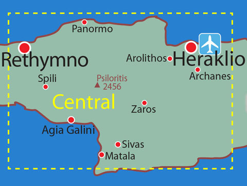 Map location details: CENTRAL CRETE