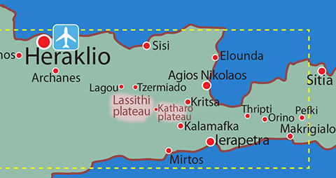 Map location details: Walking tour EAST CRETE